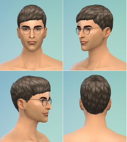 Rusty Nail: Short straight bangs hairstle edit for Sims 4