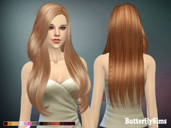 Butterflysims: Beutiful hairstyle 092 for Sims 4