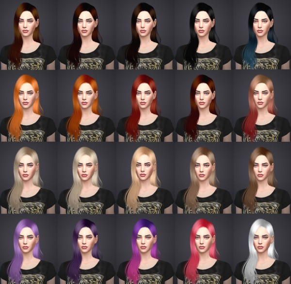 Salem2342: Sintiklia Donna 08 hairstyle retextured for Sims 4