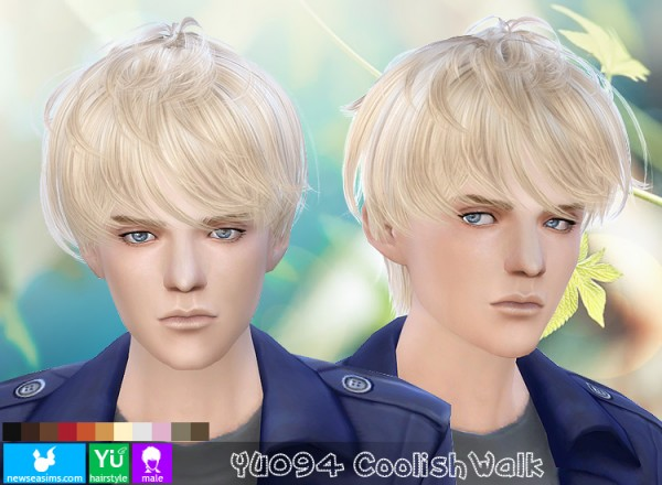 NewSea: YU 094 Coolish Walk hairstyle for Sims 4