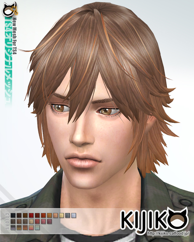 Sims 4 Hairs Kijiko Sims Spiky Layered Hairstyle For Him
