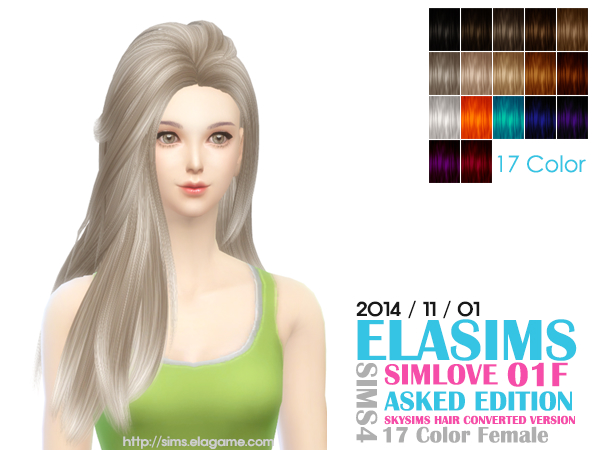 MAY Sims: Simlove 01f hairstyle by ELA for Sims 4