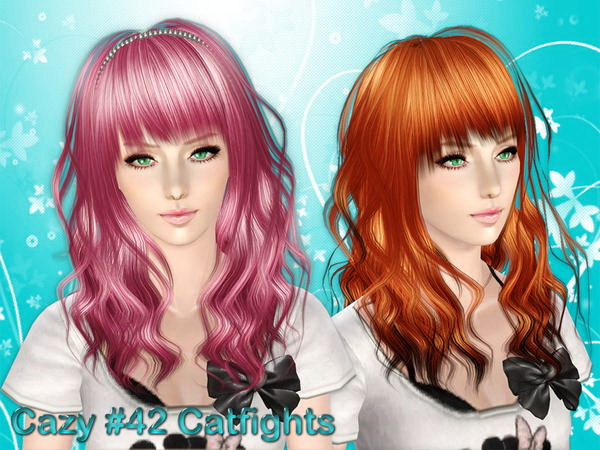 MAY Sims: Asked hairstyle 53F / 53G converted by ELA for Sims 4