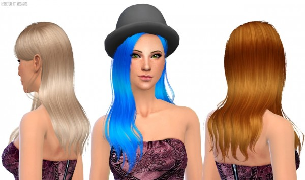 Nessa sims: Sintiklia Donna hairstyle retextured for Sims 4