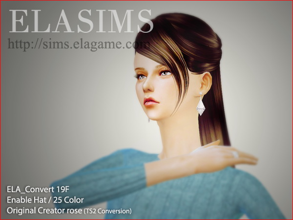 MAY Sims: Hairstyle 19F converted by ELA for Sims 4