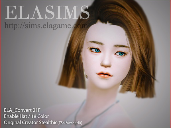 MAY Sims: 21F hairstyle converted by ELA for Sims 4