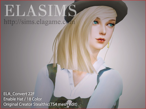 MAY Sims: 22F hairstyle converted by ELA for Sims 4