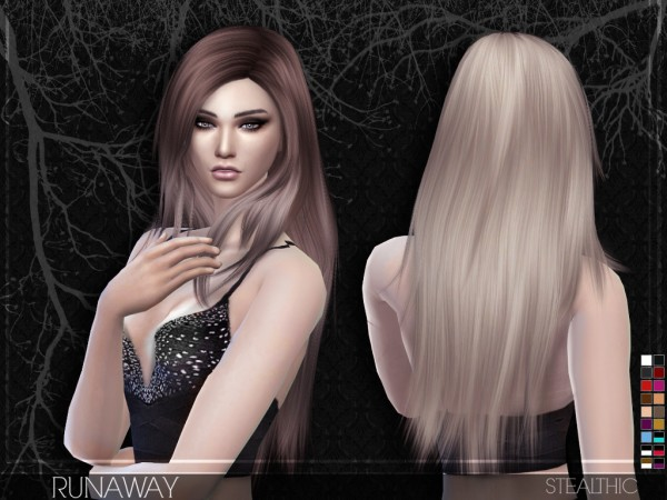 Stealthic: Runaway hairstyle for Sims 4
