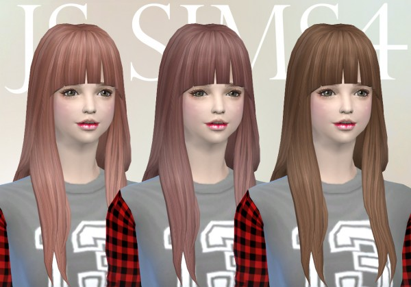 JS Sims 4: NotEgain Alicia hairstyle retextured for Sims 4