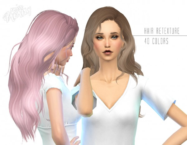 Miss Paraply: Newsea`s Hello hairstyle retextured in 40 colors for Sims 4