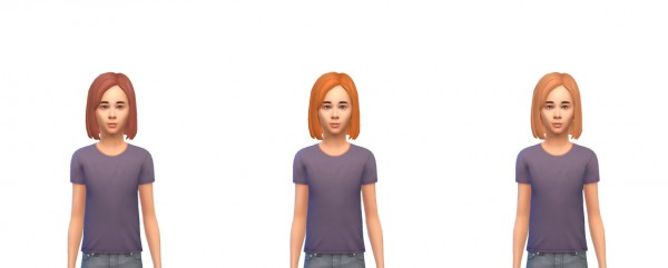 Busted Pixels: Bangs side swept hairstyle for Sims 4