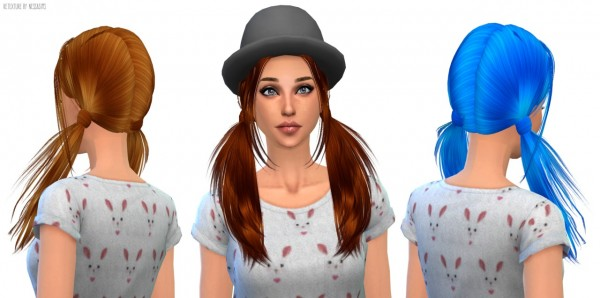 Nessa sims: Butterflysims 068 hairstyle retextured for Sims 4