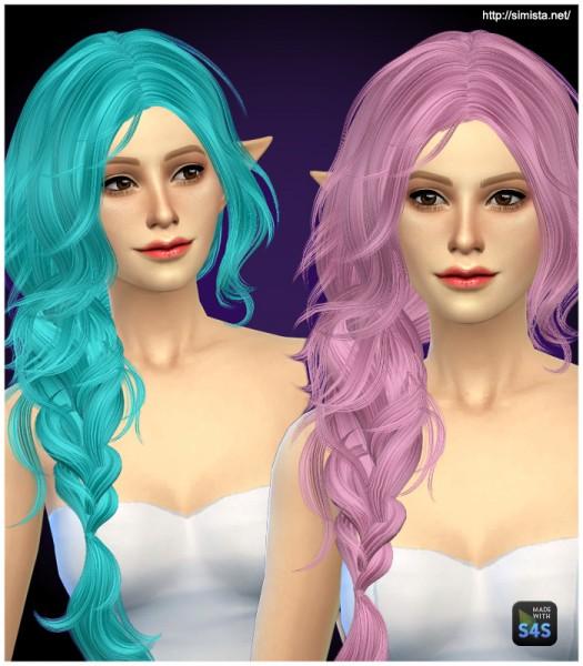 Simista: Ela 43 Hairstyle Retexture for Sims 4