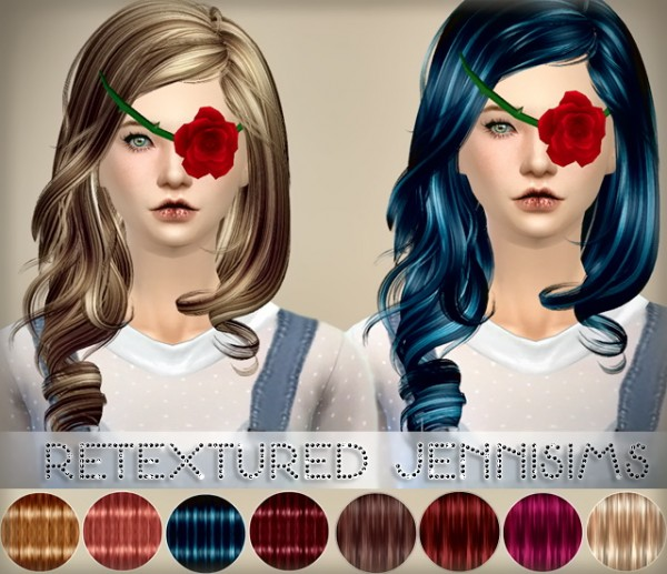 Jenni Sims: Elasims Hairstyle Converted for Sims 4