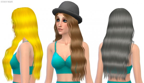 Nessa sims: Nightcrawler`s Timber hairstyle retextured for Sims 4