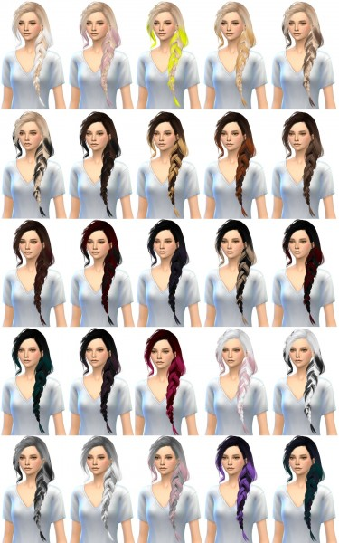 Miss Paraply: 4000+ Followers gift Skysims 257 hairstyle for Sims 4