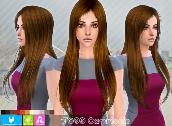 NewSea: J099 Capriccio hairstyle for Sims 4