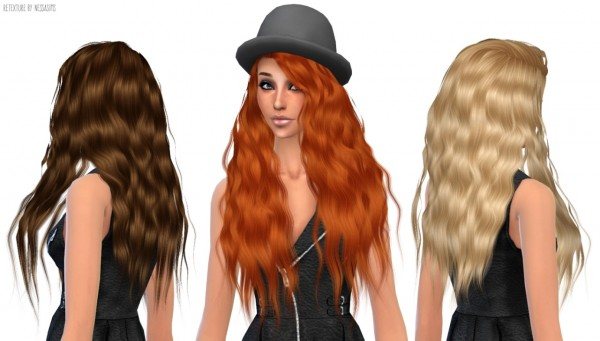 Nessa sims: Stealthic Sleepwalking hairstyle retextured for Sims 4