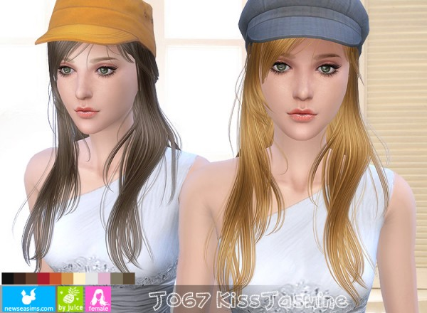 NewSea: jasmine flower hairstyle J067 for Sims 4