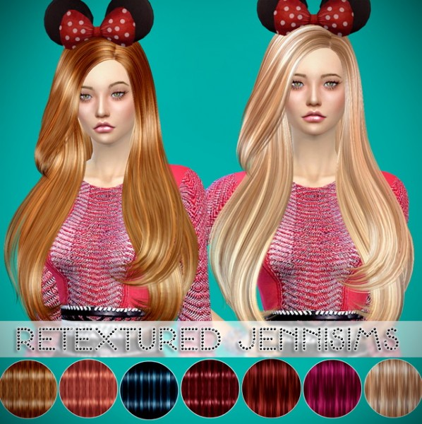 Jenni Sims: Butterfly 092 hairstyle retextured for Sims 4