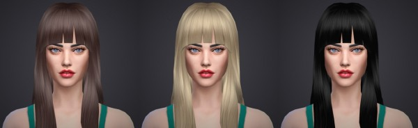 Salem2342: NotEgain Alicia hairstyle retextured for Sims 4