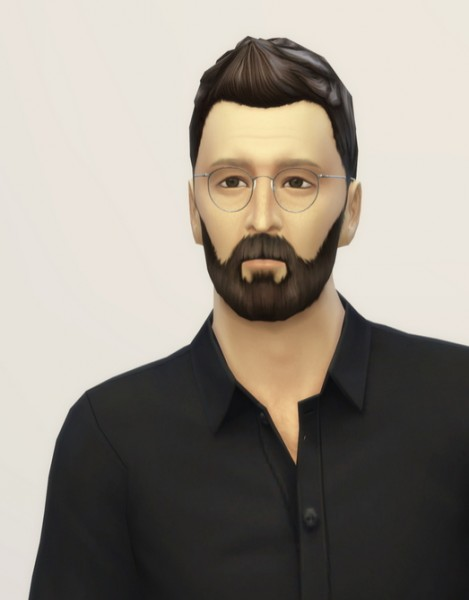 Rusty Nail: Faux Hauk hairstyle edit for Sims 4