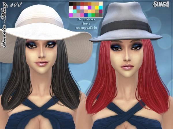 The Sims Resource: Hair 11 Minaj by Sintiklia for Sims 4