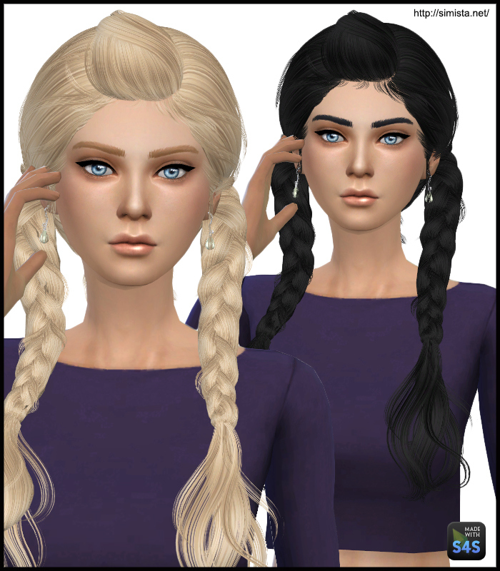 Sims 4 Hairstyles: Simista: May 03F Hairstyle Retextured