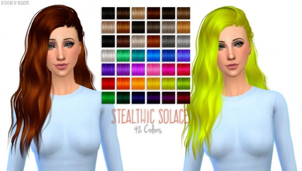 select a Website   : Stealthic Solace hairstyle retextured for Sims 4