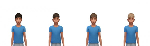 Busted Pixels: Short straight bangs hairstle recolor for Sims 4