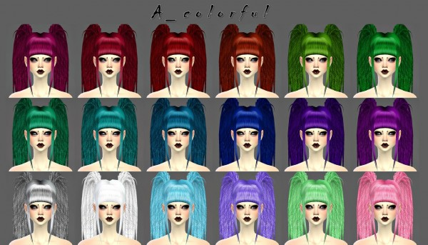 Decay Clown Sims: Dreadfalls   A hairstyle for Sims 4