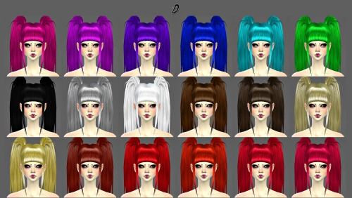 Decay Clown Sims: Dreadfalls   D hairstyle for Sims 4