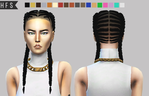 Outstanding Sims 4 Hairs Haut Fashion Sims Braided Braids Hairstyle Short Hairstyles For Black Women Fulllsitofus