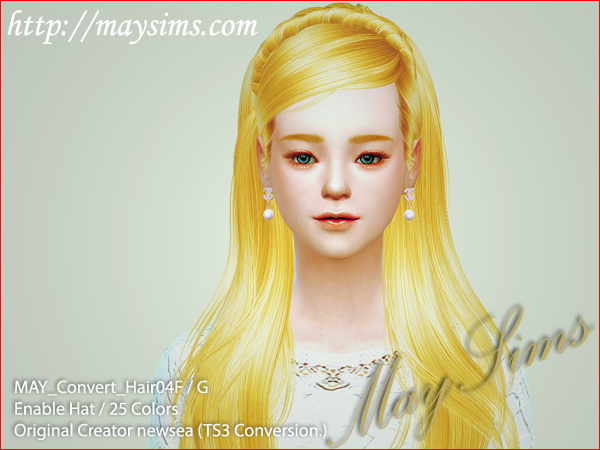MAY Sims: May Convert Hairstyle 04F/G for Sims 4
