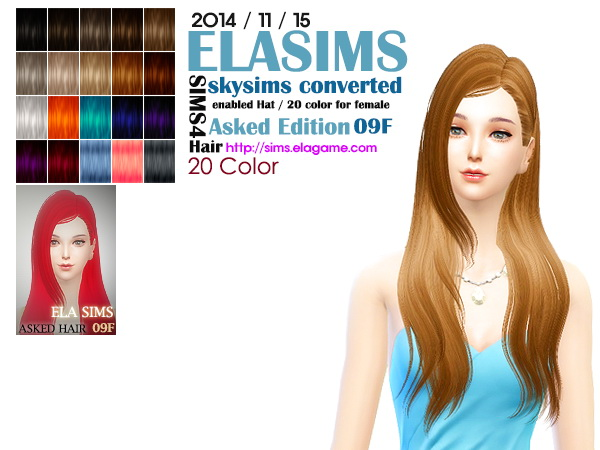 MAY Sims: Skysims 09 hairstyle converted by ELA for Sims 4