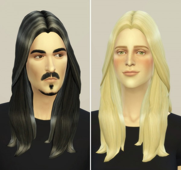Rusty Nail: Long weavy hairstyle retextured for Sims 4