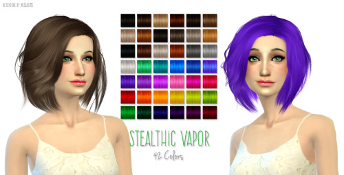 Nessa sims: Stealthic Vapor Hairstyle Retextured for Sims 4