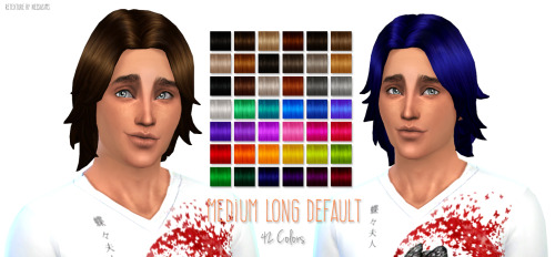 Nessa sims: Medium Long Default Replacement for Sims 4