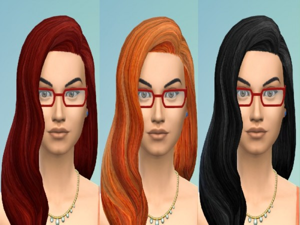 The Sims Resource: Long Wavy Hair Retexture by Bokavoy for Sims 4