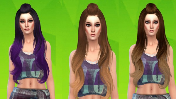 Ardatndr: Skysims 258 hairstyle retextured for Sims 4