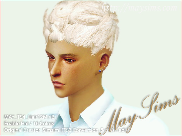 MAY Sims: May Hairstyle 12M. for Sims 4