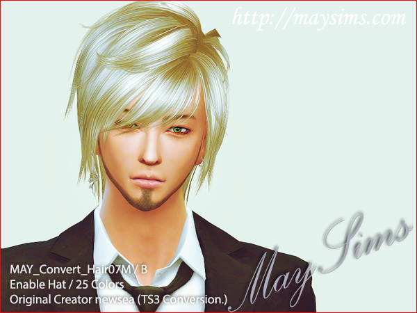 MAY Sims: May Hairstyle 07M converted for Sims 4