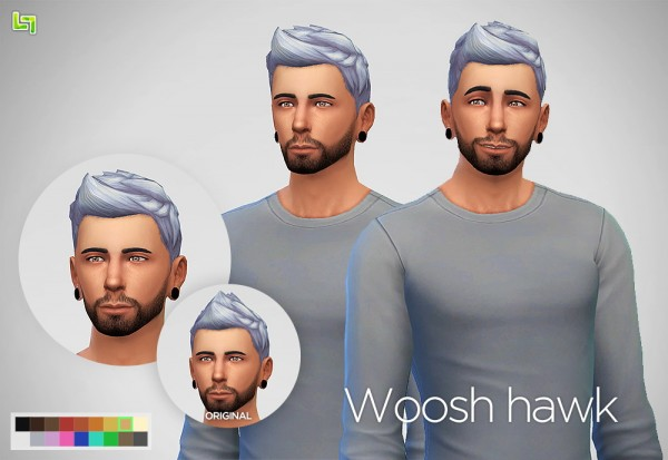 Lumia Lover Sims: Woosh hawk hairstyle for Sims 4