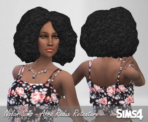 SUL SUL: Afro redux hairstyle retextured for Sims 4