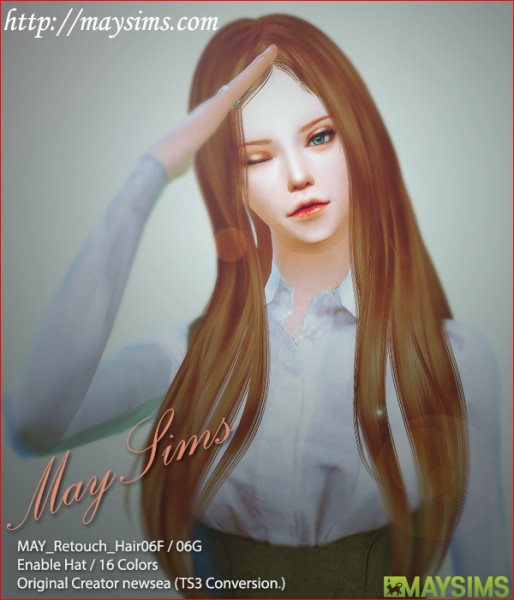 MAY Sims: May Hairstyle 06F retextured for Sims 4
