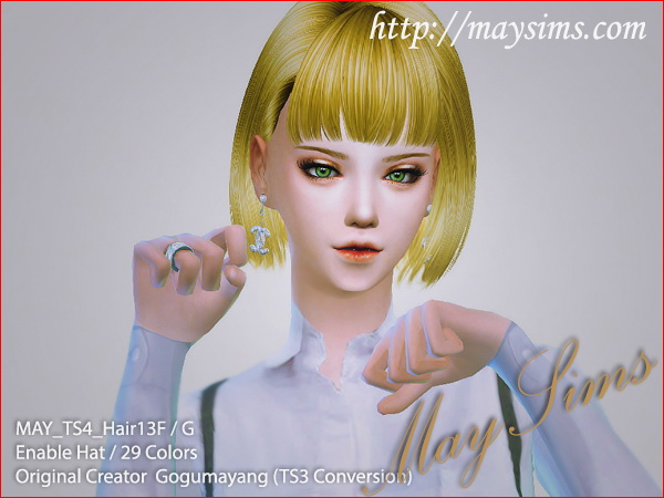 MAY Sims: May Hairstyle 13F for Sims 4