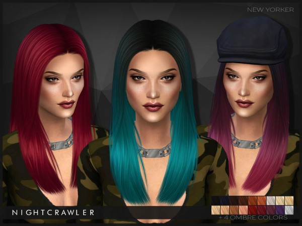 The Sims Resource: NewYorker straight hairstyle by Nightcrawler for Sims 4