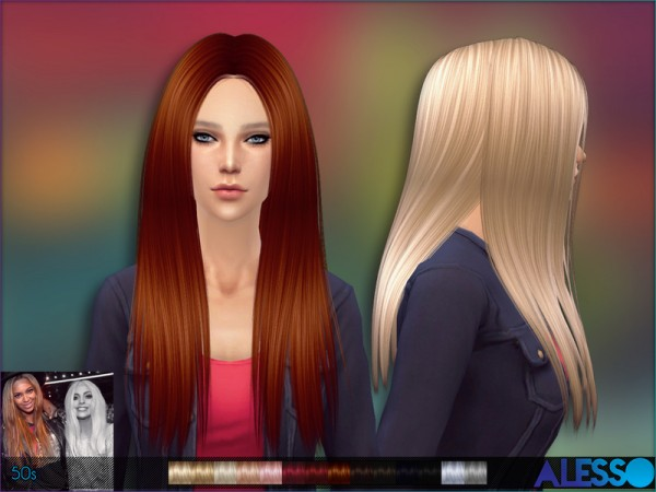 The Sims Resource: 50s hairstyle by Alesso for Sims 4