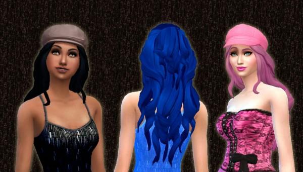 Mystufforigin: Romantic hairstyle for Sims 4
