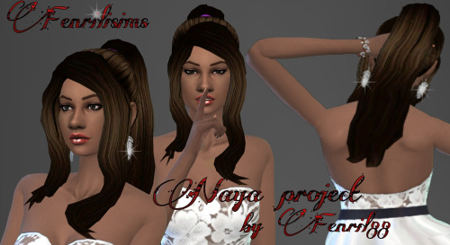Fenrilsims: Naya hairstyle for Sims 4